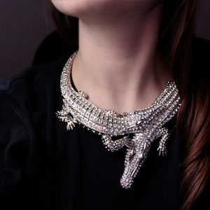 Jewelry - 5 ⭐️ Rated Silver Crocodile Alligator Necklace